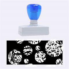 Colorful decorative pattern Rubber Stamps (Large)