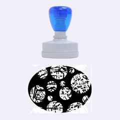 Colorful decorative pattern Rubber Oval Stamps
