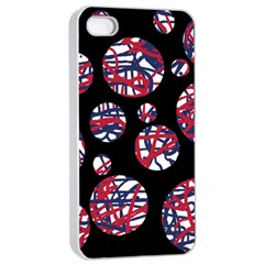 Colorful decorative pattern Apple iPhone 4/4s Seamless Case (White)