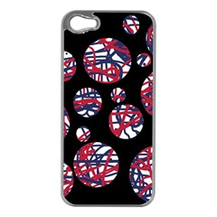 Colorful decorative pattern Apple iPhone 5 Case (Silver)