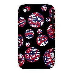 Colorful decorative pattern Apple iPhone 3G/3GS Hardshell Case (PC+Silicone)