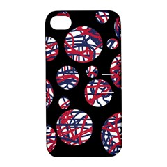 Colorful decorative pattern Apple iPhone 4/4S Hardshell Case with Stand