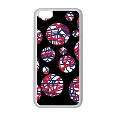 Colorful decorative pattern Apple iPhone 5C Seamless Case (White)