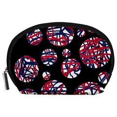 Colorful decorative pattern Accessory Pouches (Large)