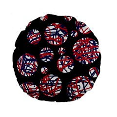 Colorful decorative pattern Standard 15  Premium Flano Round Cushions