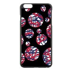 Colorful Decorative Pattern Apple Iphone 6 Plus/6s Plus Black Enamel Case