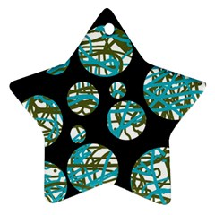 Decorative blue abstract design Ornament (Star)