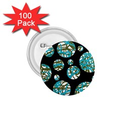 Decorative blue abstract design 1.75  Buttons (100 pack)
