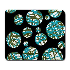 Decorative blue abstract design Large Mousepads
