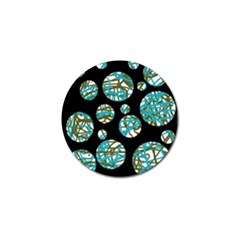 Decorative blue abstract design Golf Ball Marker (10 pack)