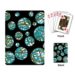 Decorative blue abstract design Playing Card