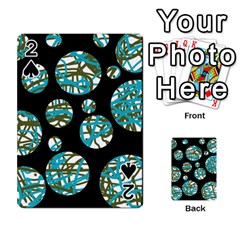 Decorative blue abstract design Playing Cards 54 Designs