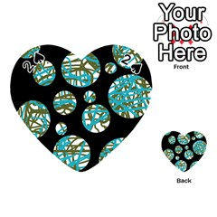 Decorative blue abstract design Playing Cards 54 (Heart)
