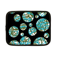 Decorative blue abstract design Netbook Case (Small)