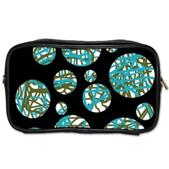 Decorative blue abstract design Toiletries Bags