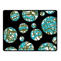 Decorative blue abstract design Fleece Blanket (Small)