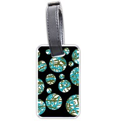Decorative blue abstract design Luggage Tags (One Side)