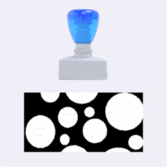 Decorative blue abstract design Rubber Stamps (Medium)