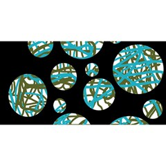 Decorative blue abstract design YOU ARE INVITED 3D Greeting Card (8x4)