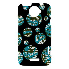 Decorative blue abstract design HTC One X Hardshell Case