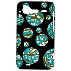 Decorative blue abstract design HTC Incredible S Hardshell Case