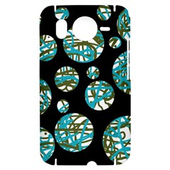 Decorative blue abstract design HTC Desire HD Hardshell Case