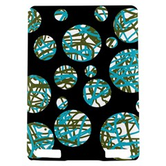 Decorative blue abstract design Kindle Touch 3G