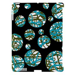 Decorative blue abstract design Apple iPad 3/4 Hardshell Case (Compatible with Smart Cover)