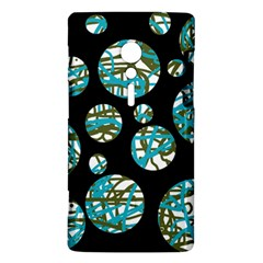 Decorative blue abstract design Sony Xperia ion