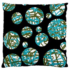 Decorative blue abstract design Large Cushion Case (One Side)