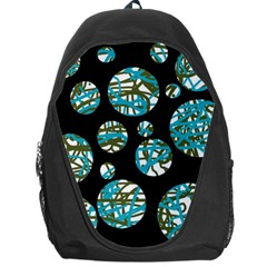 Decorative blue abstract design Backpack Bag
