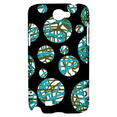 Decorative blue abstract design Samsung Galaxy Note 2 Hardshell Case