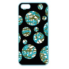 Decorative blue abstract design Apple Seamless iPhone 5 Case (Color)