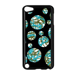 Decorative blue abstract design Apple iPod Touch 5 Case (Black)