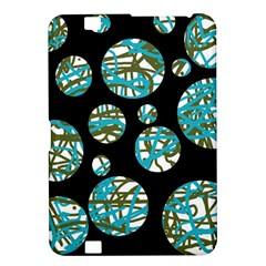 Decorative blue abstract design Kindle Fire HD 8.9