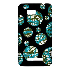Decorative blue abstract design HTC One SU T528W Hardshell Case