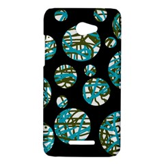 Decorative blue abstract design HTC Butterfly X920E Hardshell Case