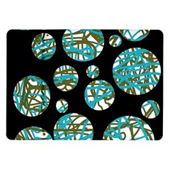 Decorative blue abstract design Samsung Galaxy Tab 10.1  P7500 Flip Case