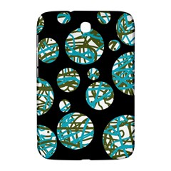 Decorative blue abstract design Samsung Galaxy Note 8.0 N5100 Hardshell Case