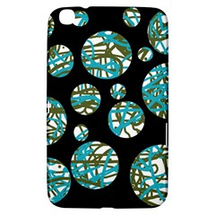 Decorative blue abstract design Samsung Galaxy Tab 3 (8 ) T3100 Hardshell Case