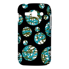 Decorative blue abstract design Samsung Galaxy Ace 3 S7272 Hardshell Case