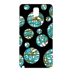 Decorative blue abstract design Samsung Galaxy Note 3 N9005 Hardshell Back Case