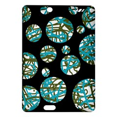 Decorative blue abstract design Amazon Kindle Fire HD (2013) Hardshell Case