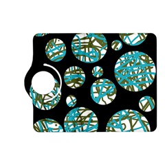 Decorative blue abstract design Kindle Fire HD (2013) Flip 360 Case