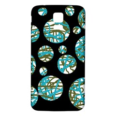 Decorative blue abstract design Samsung Galaxy S5 Back Case (White)