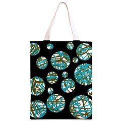 Decorative blue abstract design Classic Light Tote Bag