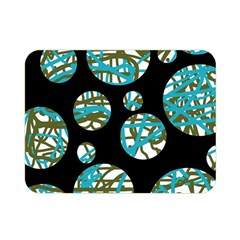 Decorative blue abstract design Double Sided Flano Blanket (Mini)