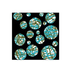 Decorative blue abstract design Satin Bandana Scarf