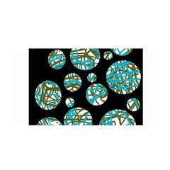 Decorative blue abstract design Satin Wrap