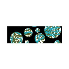 Decorative blue abstract design Satin Scarf (Oblong)